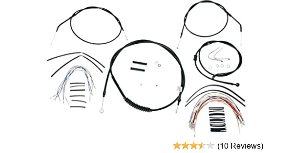 "Burly 14/"" Black Handlebar Control Installation Kit Cables 07-13 Harley Sportster"