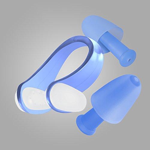 Adulte natation pince-nez anti-dérapant imperméable à l'eau professionnel natation bouchons d'oreilles nez clip costume équipement de plongée nasale congestion nez clip