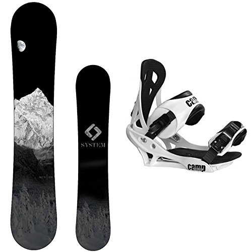 System 2018 MTN Snowboard with Summit Bindings Men's Snowboard Package
