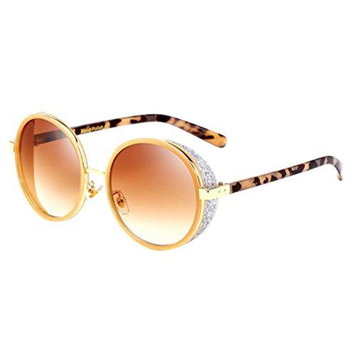 Zhhlinyuan Moda de de y Hombres Tea PC UV Protección Unisex Sol Mujeres Gafas Eyewear Sun Glasses para SqSw5rI