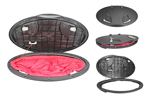 Kayak Canoe Fishing Rigging Sailing Heavy Duty 20'' Waterproof Hatch Deck Plate Kit Cover w/Storage Bag ()