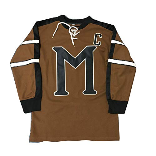 Mens Brown Ice - AIFFEE Men's Hockey Jersey #10 BIEBE Ice Hockey Jerseys Brown Color Size S-XXXL (M)