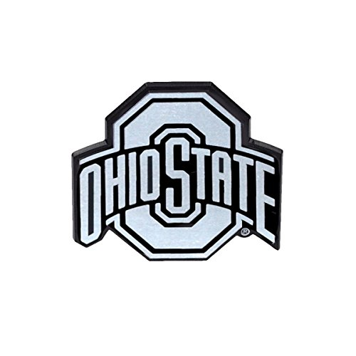 TG,LLC Ohio State Chrome Car Truck Reflective Emblem 3-D OSU ()