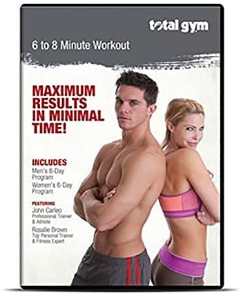 Total Gym DVDJC Men/Women Professional Total Body Workout Video with 12 Routines Led via John Carleo and Rosalie Brown