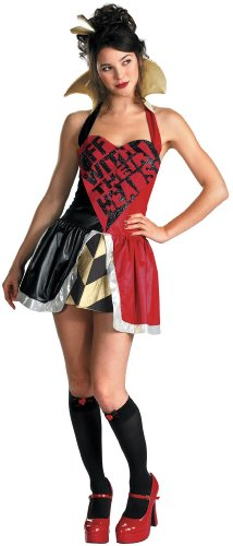 Queen Of Hearts Disney Costume (Queen of Hearts Halter Costume Size: Medium)