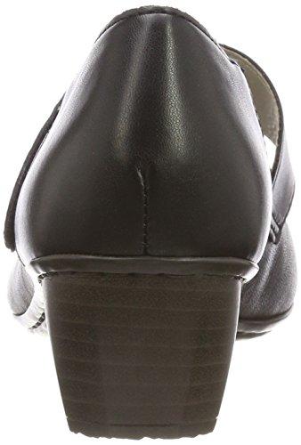 Schwarz Femme Noir Rieker 41725 Schwarz Noir Escarpins qfRYwE