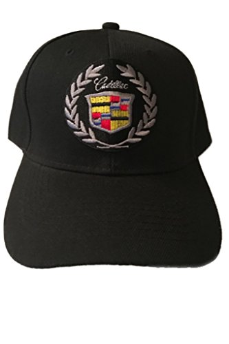 Cadillac Baseball Cap Hat Black with Wording. New! ()