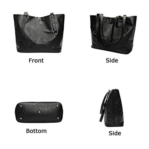 Borsa Bag Casual Grande Donna Da Pelle Borse Ephraim In A Mano Tracolla Black01 Tote tQshrdC