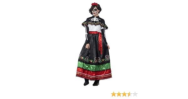 Smiffy s 44937 X 1 de la mujer disfraz de mexicana para el día de ...