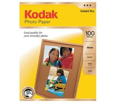 Kodak Glossy Photo Paper, 8.5 x 11 Inches, 100 Sheets per Pack (8209017), Office Central