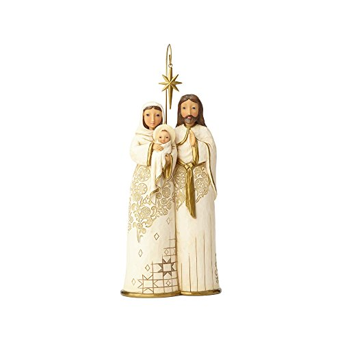 Enesco Jim Shore Heartwood Creek Golden Garland Behold and Believe Holy Family Figurine, 11'' by Enesco