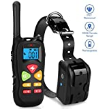 Dog Training Collar Upgraded 1000ft Remote Waterproof Rechargeable Dog Shock Collar with Beep Vibration and Harmless Shock for Small Medium Large Dogs (6.6-120lbs)