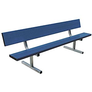 Sport Supply Group Portable Bench with Back- 21 Foot by Sport Supply Group
