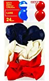 Kim'play - 271 - Ballons De Baudruche - 24 Ballons - Bleu/blanc/rouge