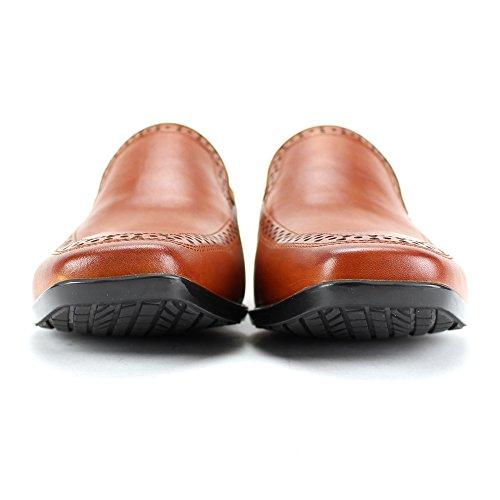 Giovanni Varumärke Sko Derby Slip-on Dagdrivare Med Perforeringar - Lätta Och Bekväma Tan