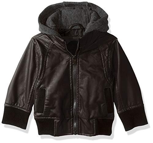 Urban Republic Baby Boys Faux Leather Jacket, Dark Brown, 24M -