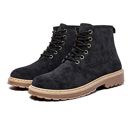 À Chaussures En 44 Hilotu Noir Suédé Bottes Antidérapantes Marron D'hiver Eu Lacets Bottines color Cuir Taille Pour Hommes Légères Chukka SnR4PAz