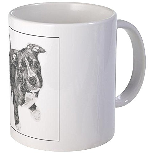 CafePress - Grey Tile Pitbull Mug - Unique Coffee Mug, Coffee Cup