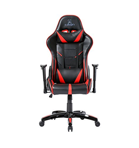 41bTHS5VUOL - Video-Gaming-Chair-Ergonomic-Design-High-back-Computer-Racing-Chair-PU-Leather-Executive-Office-Chiar-with-Lumbar-support-and-Headrest