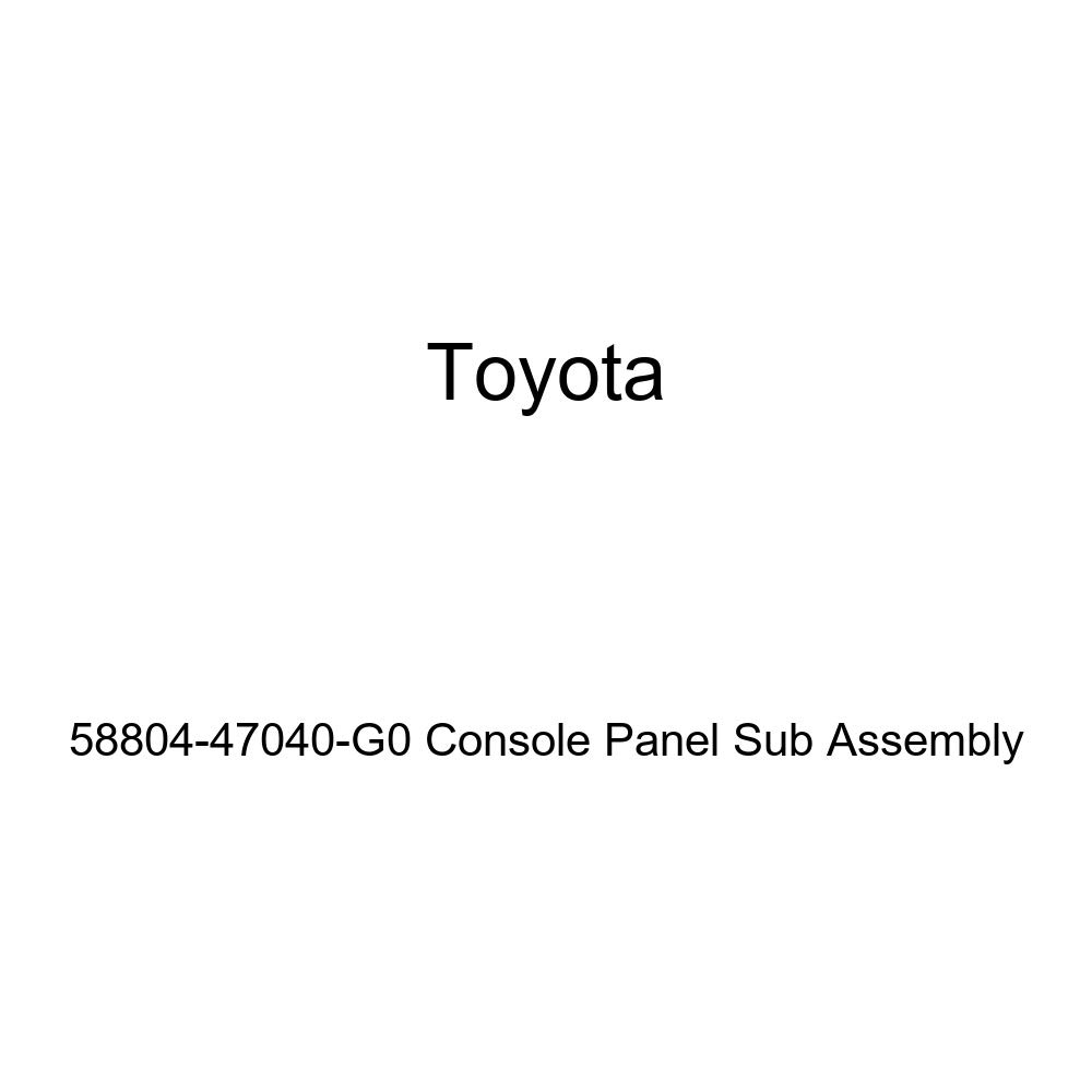 TOYOTA Genuine 58804-47040-G0 Console Panel Sub Assembly