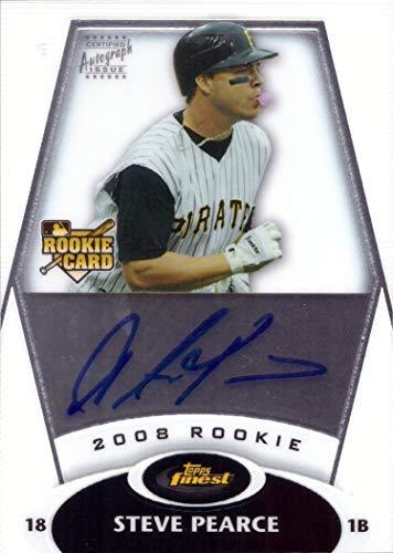 (2008 Topps Finest Rookie Autograph #155 Steve Pearce Certified Autograph Baseball Rookie)