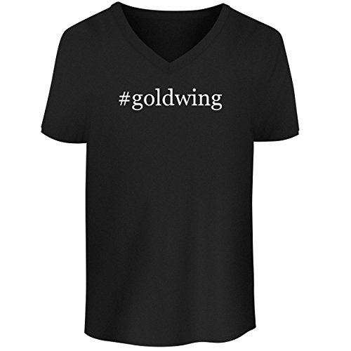 BH Cool Designs #Goldwing - Men's V Neck Graphic Tee, Black, Large -