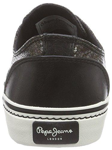 Pepe Jeans ALFORD BROGUE - zapatilla deportiva de material sintético mujer negro - Schwarz (999BLACK)
