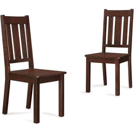 Better Homes and Gardens Bankston Mission Chairs, Set of 2, Mocha from Better Homes & Gardens