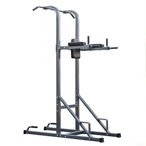 Akonza 4-in-1 Power Tower Station Workout Multi Function Pull Up Push Up Dip Station Knee Raise Home Gym by Akonza