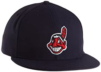 MLB Cleveland Indians Authentic On Field Alternate 2 59Fifty Fitted Cap, Navy, 6.875