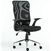 Anji High Back Ergonomic Mesh Office Computer Desk Chair with Arms and Metal Base Black