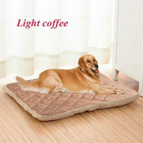 FidgetKute Large Soft Plush Pet Dog Cat Mattress Bed Winter Warm Puppy Pet Cat Cushion Mat lightcoffee 3XL