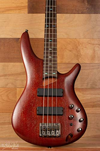 - Ibanez SR500 Soundgear 4-String Electric Bass Guitar Brown Mahogany Rosewood Fretboard