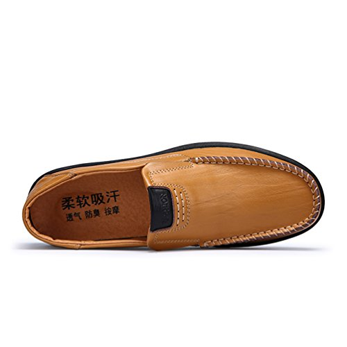 Sherry Love Loafers Men's Casual Style Slip-On Loafer-Brown-46 EU by Sherry Love (Image #3)