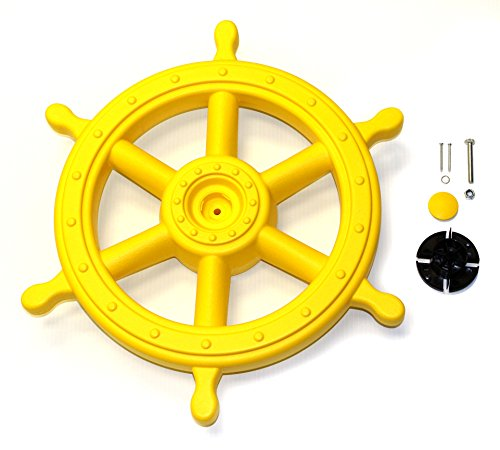 - Eastern Jungle Gym Jumbo Captain's Ship Wheel Pirate Wheel Deluxe Swing Set Accessory for Wooden Playset
