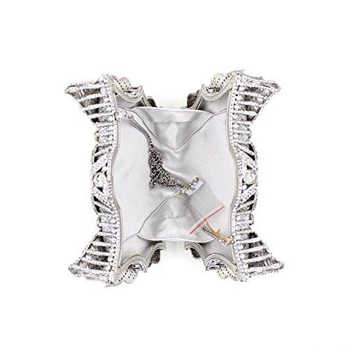 WYB Europäischen und amerikanischen Luxus hochwertigen Diamant-Abendbeutel / Kristall vollen Bohrgeräts / Handabendtasche