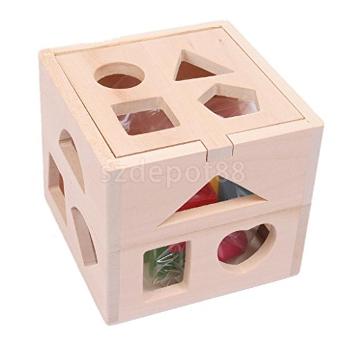 Baby Block Toy Box : Wooden block sorter box baby toddler preschool kids color