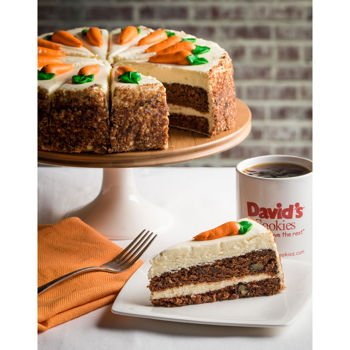 "David's Cookies Easter Layered Carrot Cake 10"" - Perfect gift for Easter"