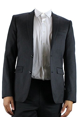 Alfani Mens Wool Slim Fit Two-Button Suit Jacket Black 40S