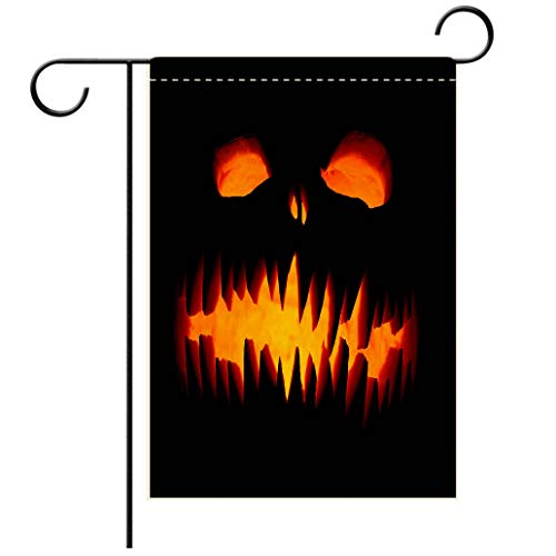BEISISS Double Print Garden Flag Outdoor Flag House FlagBannerScary Halloween pumpkinsdecorated for Outdoor Holiday Gardens