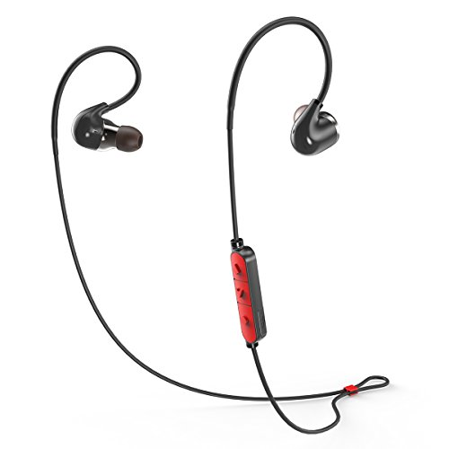 Coredy BlackMamba Fit Extrem leicht Drahtloses Bluetooth 4.1 Sportlicher Kopfhörer Ohrhörer Ohrbügel mit der Speicherkabel 8 Stunden Akku