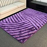 Dark Purple Two Tone 3D Shaggy Shag Area Rug 5'x7′ Sun Rise Design High End Designer Quality Flokati High Pile Soft Iridescent Sheen Ultra Plush Living room Bedroom Review