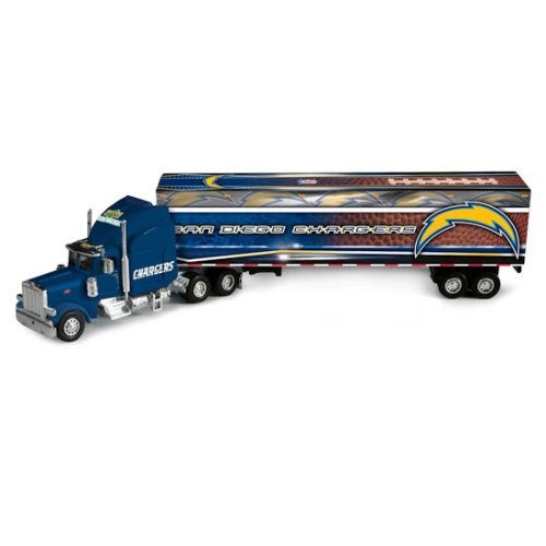 (San Diego Chargers Upper Deck Collectibles NFL Peterbilt Tractor-Trailer)