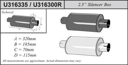 Simons Universal Schalld/ämpfer Stahl schwarz Super 63,5mm U316335