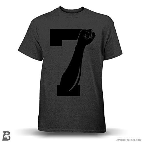 '7 Fist Up' Colin Kaepernick - Premium Tee (2XL, Dark Heather / Black) ()