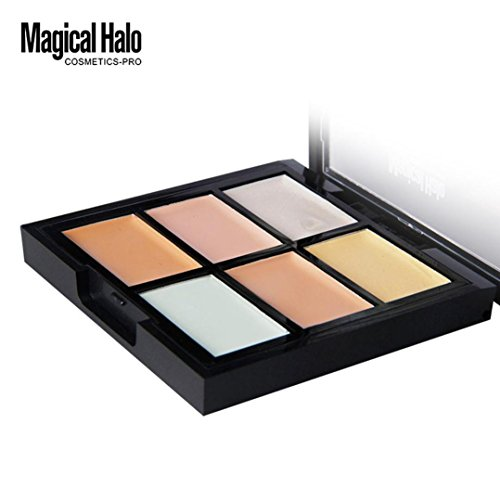 Hunputa Color Correcting Cream Concealer Palette - Perfect for Concealing Blemishes / Discoloration, Imperfections and Under eye Circles - Paraben & Talc Free (C)