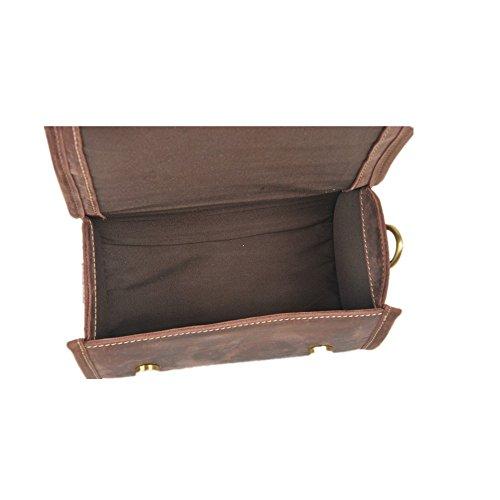 Shopping Retro Simple Leather brown Bag Color Messenger Shoulder f81qwAU