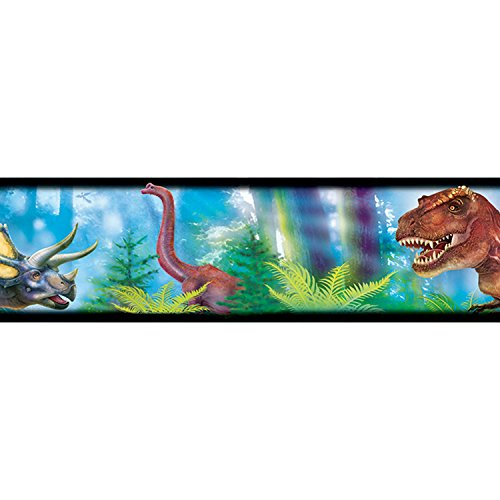 Trend Enterprises Inc. Discovering Dinosaurs Bolder Borders, 35.75' (Dinosaur Wall Border)