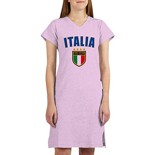CafePress Italian World Cup Soccer Women's Nightshirt, Soft Long Pajama Shirt, Cotton PJs/Pyjamas Pink