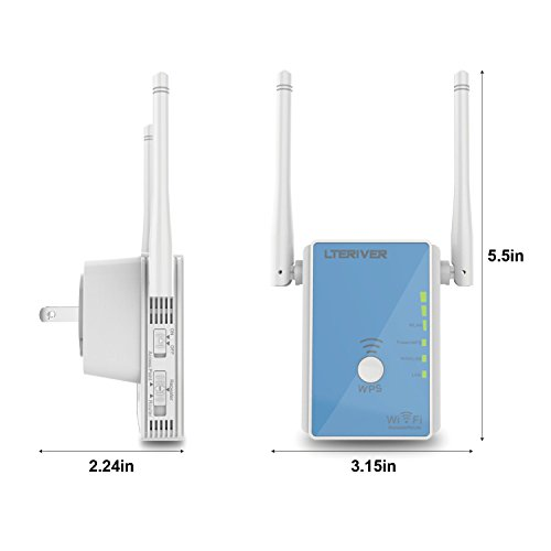 LTERIVER 802.11 N 300Mbps WiFi Repeater WiFi Range Extender WiFi Signal Booster Wireless AP Mini WiFi Router with External Antenna(E310) by LTERIVER (Image #2)